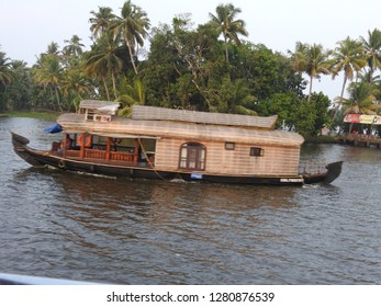 A Houseboat -the face of Backwater Tourism in Kerala - March 2018