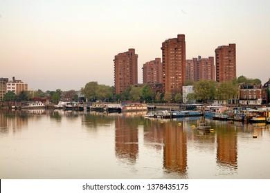 Houseboats, Chelsea, Sunrise,London.UK