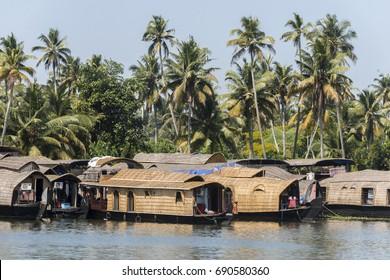 Houseboats, Cochin, India