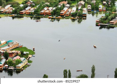 Houseboats, Dal Lake, Srinagar, Kashmir, India