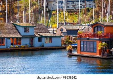 Floating House Boat Images Stock Photos Vectors