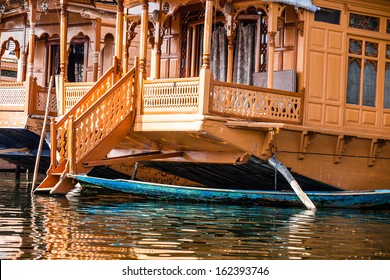 Houseboats, the floating luxury hotels in Dal Lake, Srinagar.India