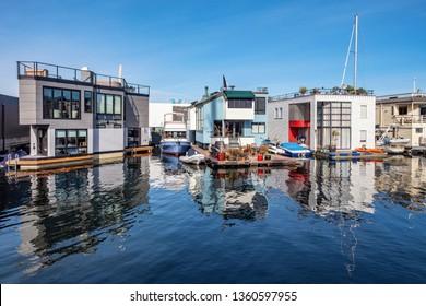 Houseboats at the Lake Union, Seattle, WA