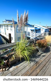 Houseboats in Sausalito, San Francisco, California, USA