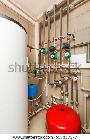 Household Boiler House Heat Pump Barrel Stock Photo (Edit Now ...