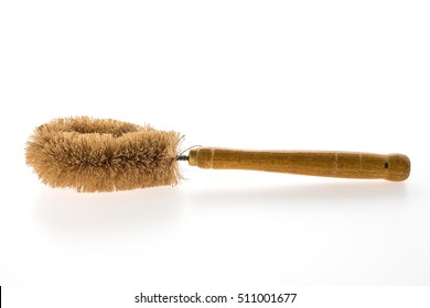 household equipment brush for cleaning isolated on white background
