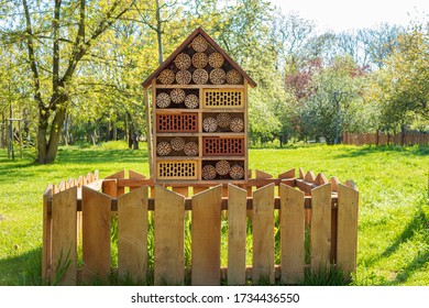 House-Hotel for insects made of wood and clay