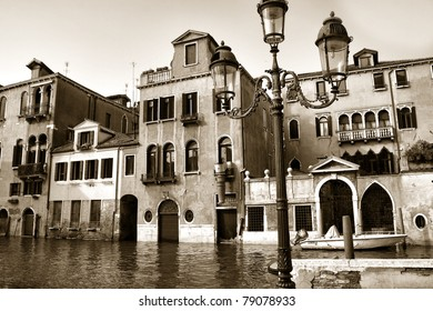 Houses along the Grand Canal, Venice, Italy