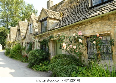 Houses of Arlington Row in the Cotswolds village of Bibury