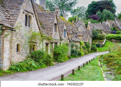 Houses of Arlington Row in the village of Bibury, England, United Kingdom