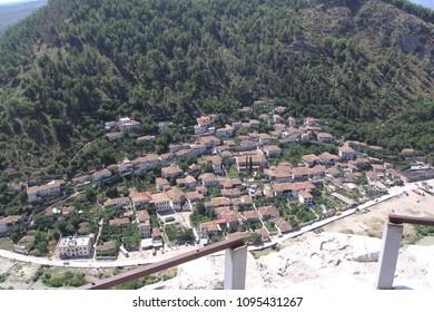 Houses in Berat Albania.