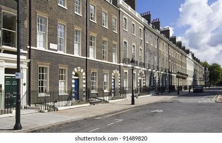 Houses in Bloomsbury in London, UK