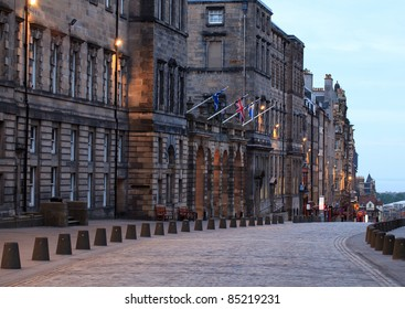 Houses and buildings along the famous royal mile in Edinburgh, capital of Scotland