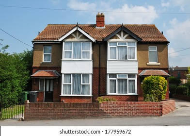 Houses Built Circa 1960 on a Typical English Council Estate Constructed During a Period of Rapid Expansion in Social Housing
