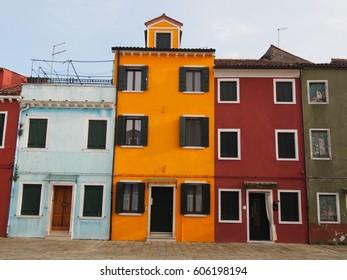 Houses in Burano - Venice
