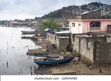 Houses by Mapou River at Cap-Haitien, Haiti