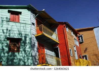 Houses in the Caminito region, Buenos Aires, Argentina.