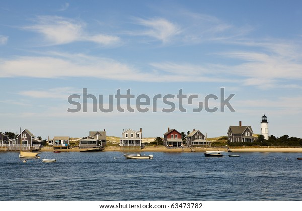 houses in cape cod, hyannis port, massachusetts, usa.
