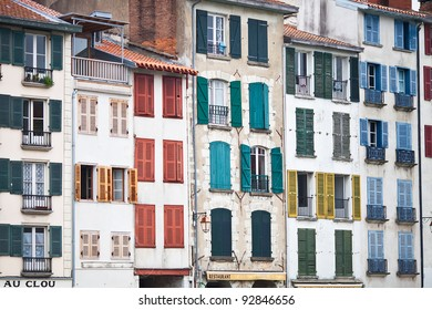 houses in the city of Bayonne in France