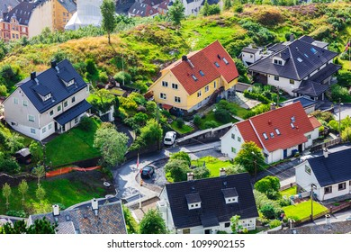 houses in the city of Bergen, Norway