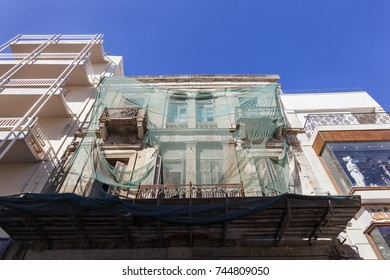 Houses in the city center of Heraklion on Crete in Greece