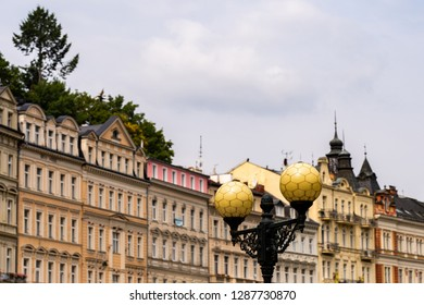 Houses in city center of Karlovy Vary