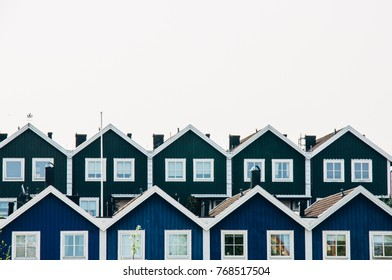 Houses in the city of Karlskrona, Sweden