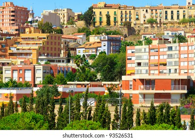 Houses of city of Tarragona, Spain