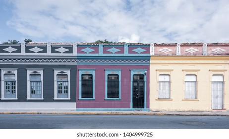 Houses in colonial style from Olinda city, Pernambuco, Brazil
