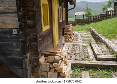 Houses in Drvengrad Ethno Village, Serbia