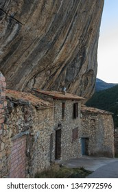 The houses embedded in the rock