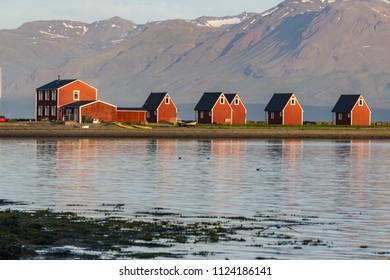 Houses in Eskifjorour  Fjord Iceland
