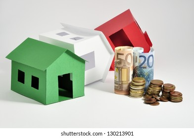 Houses and euro.