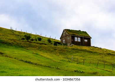 Houses of Eysturoy, Faroe Islands, autonomous region of the Kingdom of Denmark