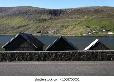 Houses at the Faroe Islands.