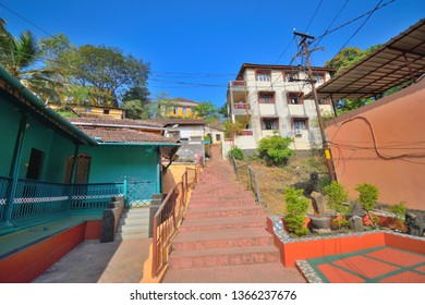 Houses in fontainhas in Panaji, Goa.