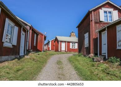 Houses at Gammelstad Lulea, Sweden