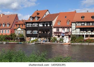 Houses in Klein Venedig in Bamberg, Bavaria, Germany