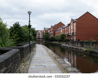 Houses in Manchester by a little canal