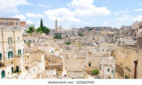 Houses of Matera also called City of stones the European Capital of Culture 2019