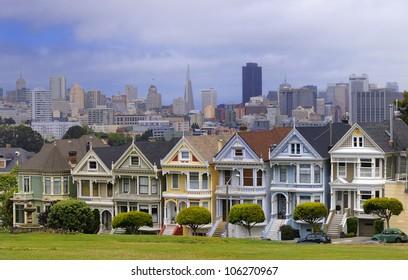 Houses near Alamo Square in San Francisco