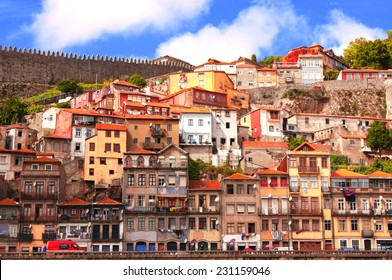 Houses in old part of Ribeira, Porto, Portugal