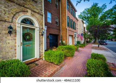 Houses in the Old Town of Alexandria, Virginia.