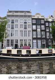Houses on an Amsterdam canal