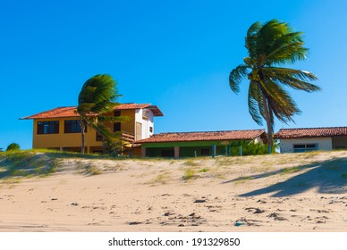 Houses on the coast of Natal, Brazil
