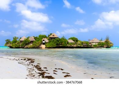 Houses on an Island in Zanzibar