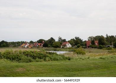 Houses on Karrebaeksminde in Denmark