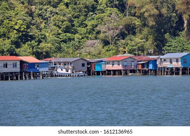 Houses on stilts in Borneo