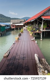 Houses on stilts in the fishing village of Bang Bao, Koh Chang, Thailand