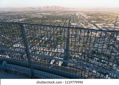 Houses over railing in las vegas